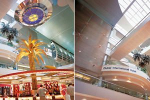 flying saucer im emirates terminal am dubai international airport